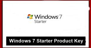 Windows 7 Starter Product Keys