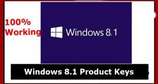 Windows 8.1 product keys list