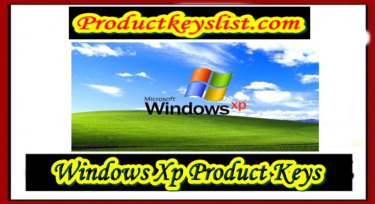 Windows Xp Product keys